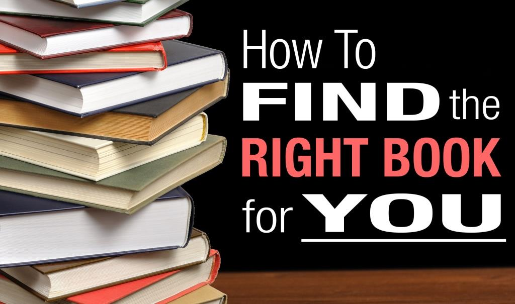 How To Find The Right Book For You